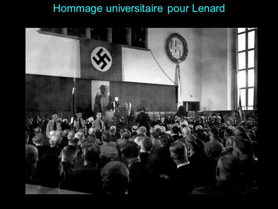 Hommage universitaire pour Lenard