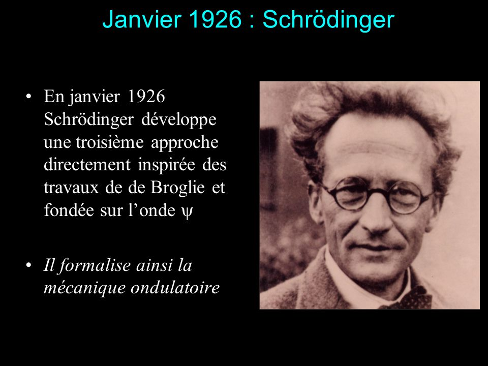 Janvier 1926 : Schrödinger