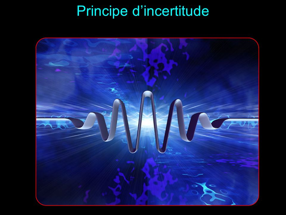 Principe d'incertitude