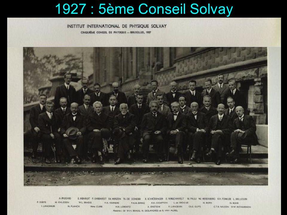 1927 : 5ème Conseil Solvay