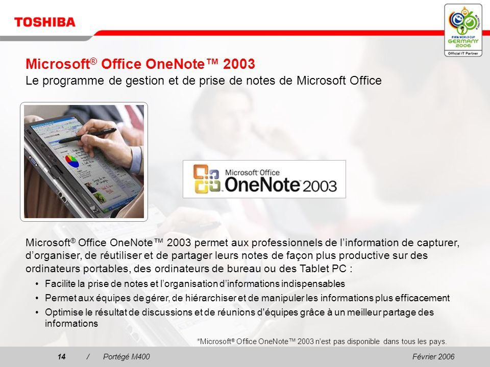 Microsoft® Office OneNote™ 2003 Le programme de gestion et de prise de notes de Microsoft Office