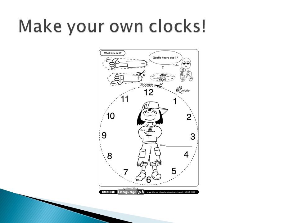 Make your own clocks!