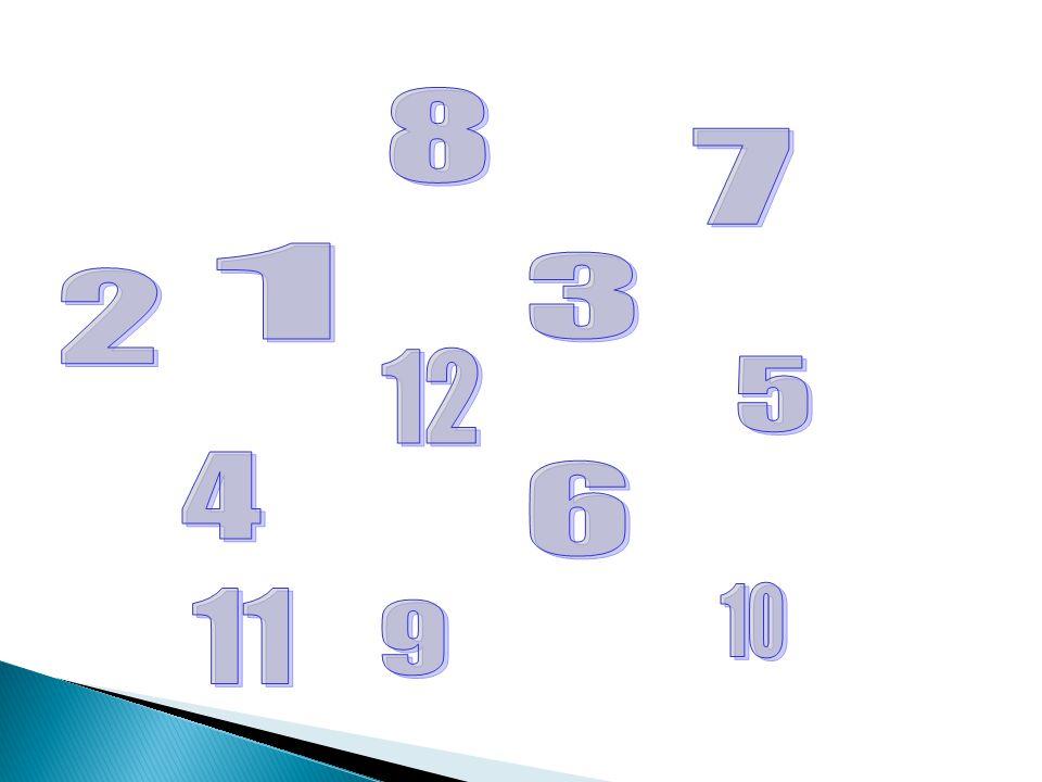 8 7 1 3 2 12 5 4 6 11 10 9