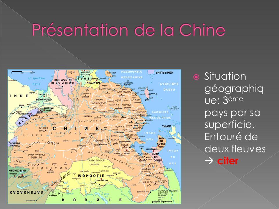 Présentation de la Chine