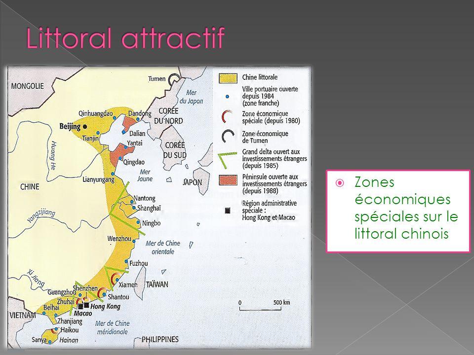 Littoral attractif Zones économiques spéciales sur le littoral chinois