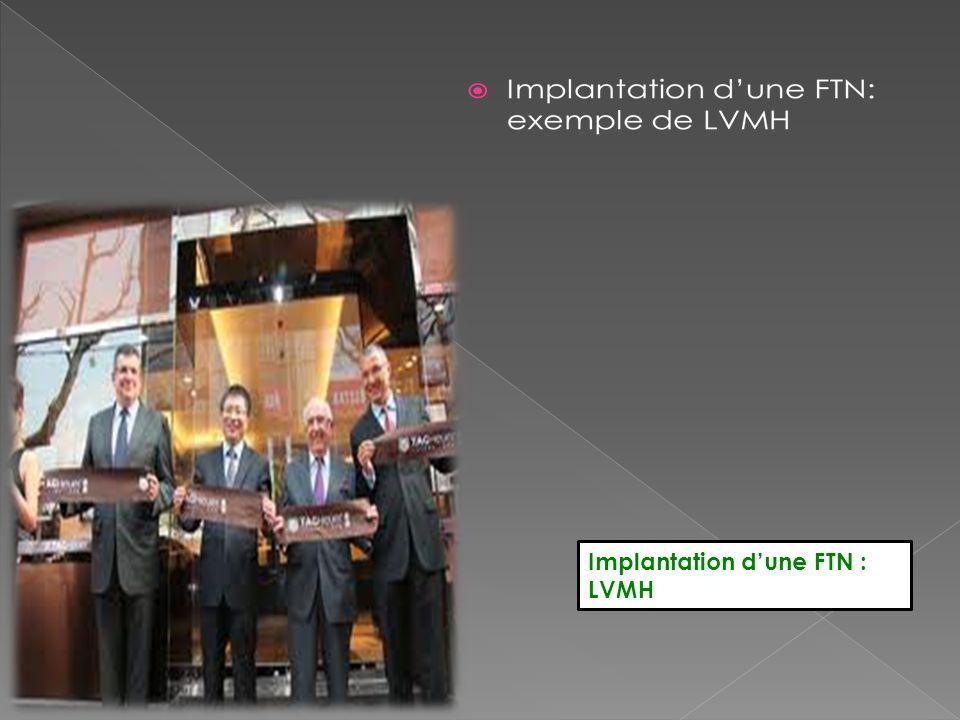Implantation d'une FTN : LVMH