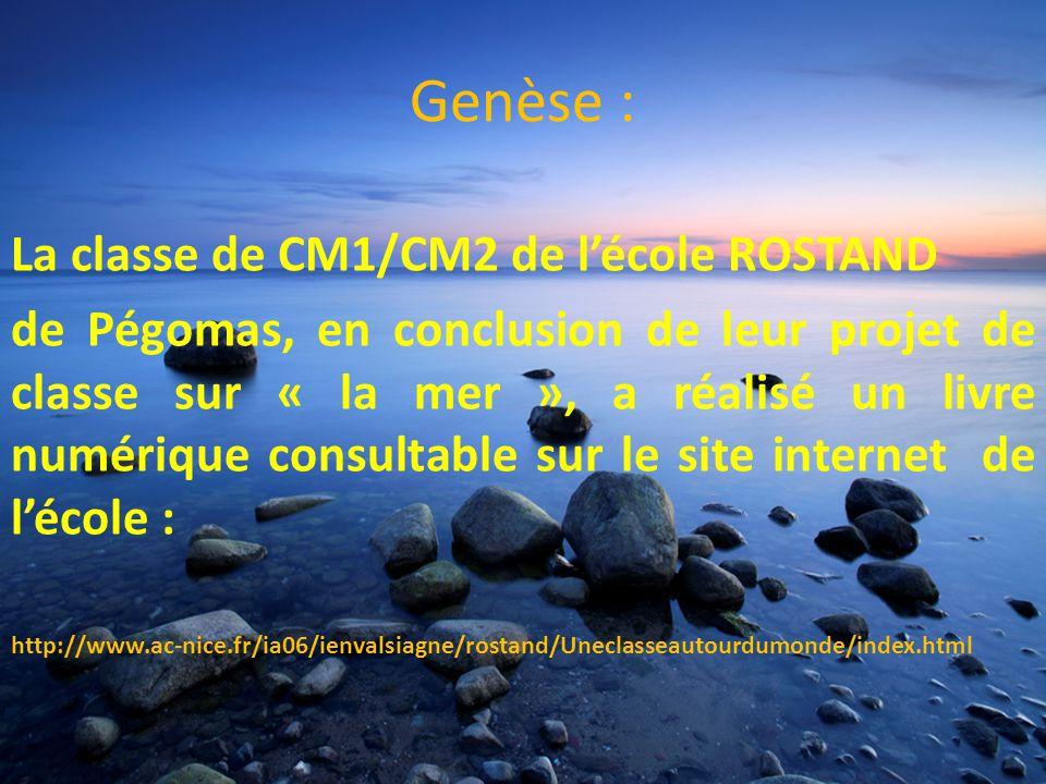 Genèse : La classe de CM1/CM2 de l'école ROSTAND