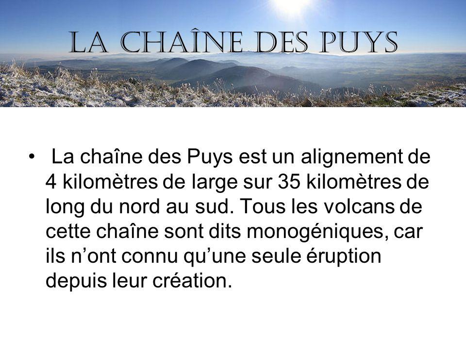 La chaîne des Puys