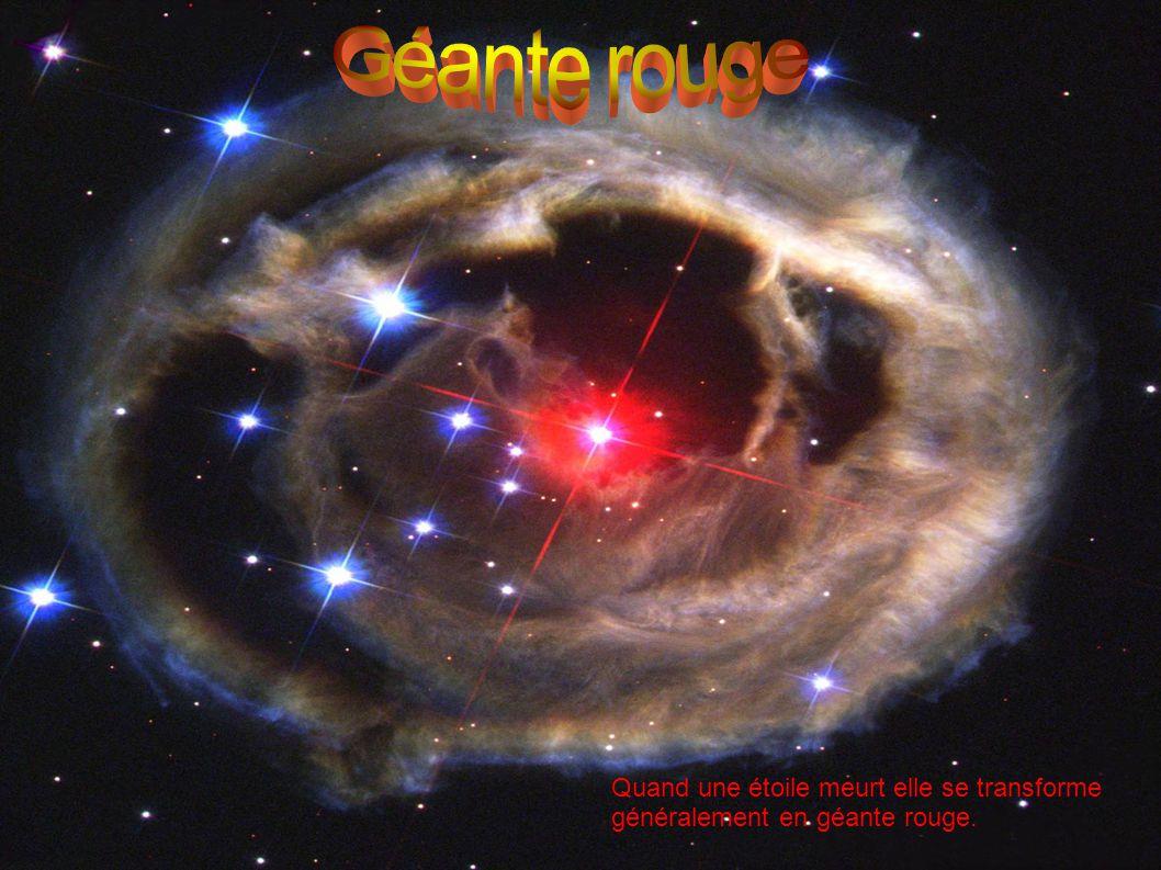 Géante rouge Quand une étoile meurt elle se transforme généralement en géante rouge.