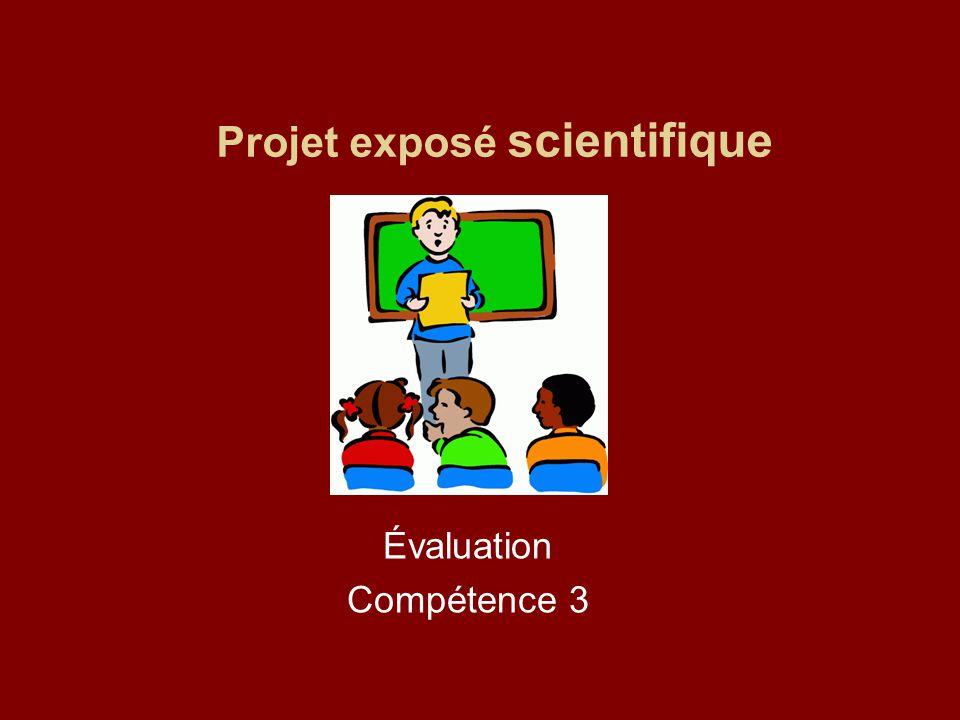 Projet exposé scientifique