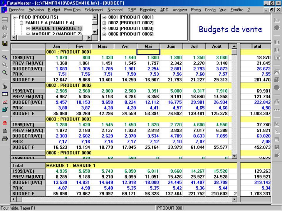 Budgets de vente