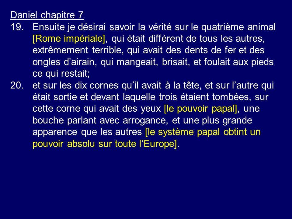 Daniel chapitre 7
