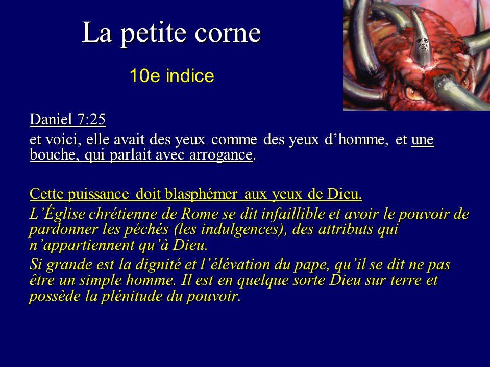 La petite corne 10e indice Daniel 7:25