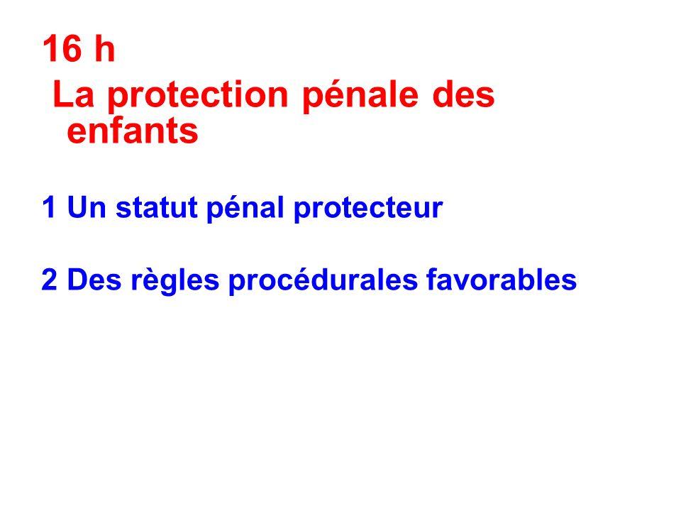 La protection pénale des enfants