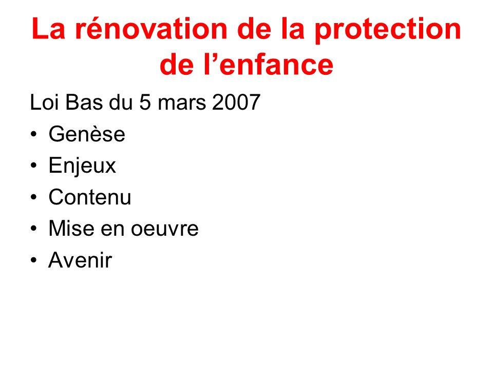 La rénovation de la protection de l'enfance