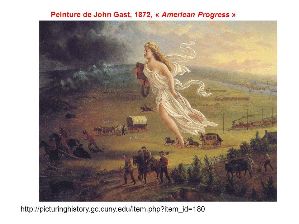Peinture de John Gast, 1872, « American Progress »