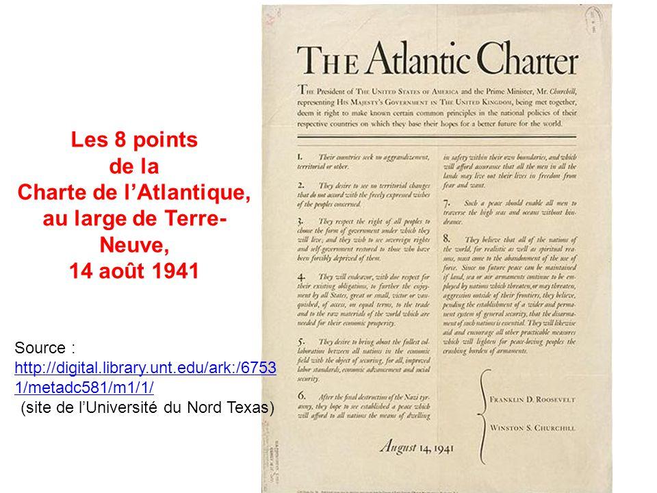 Charte de l'Atlantique, au large de Terre-Neuve,