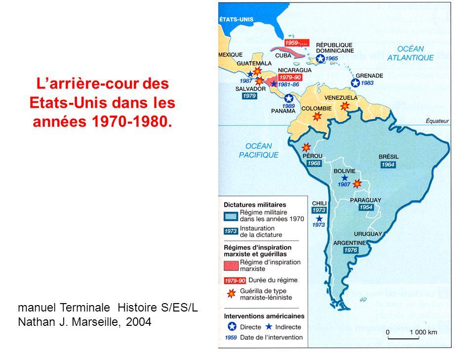L'arrière-cour des Etats-Unis dans les années 1970-1980.