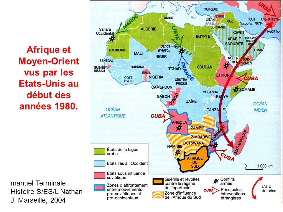 Afrique et Moyen-Orient vus par les Etats-Unis au début des années 1980.