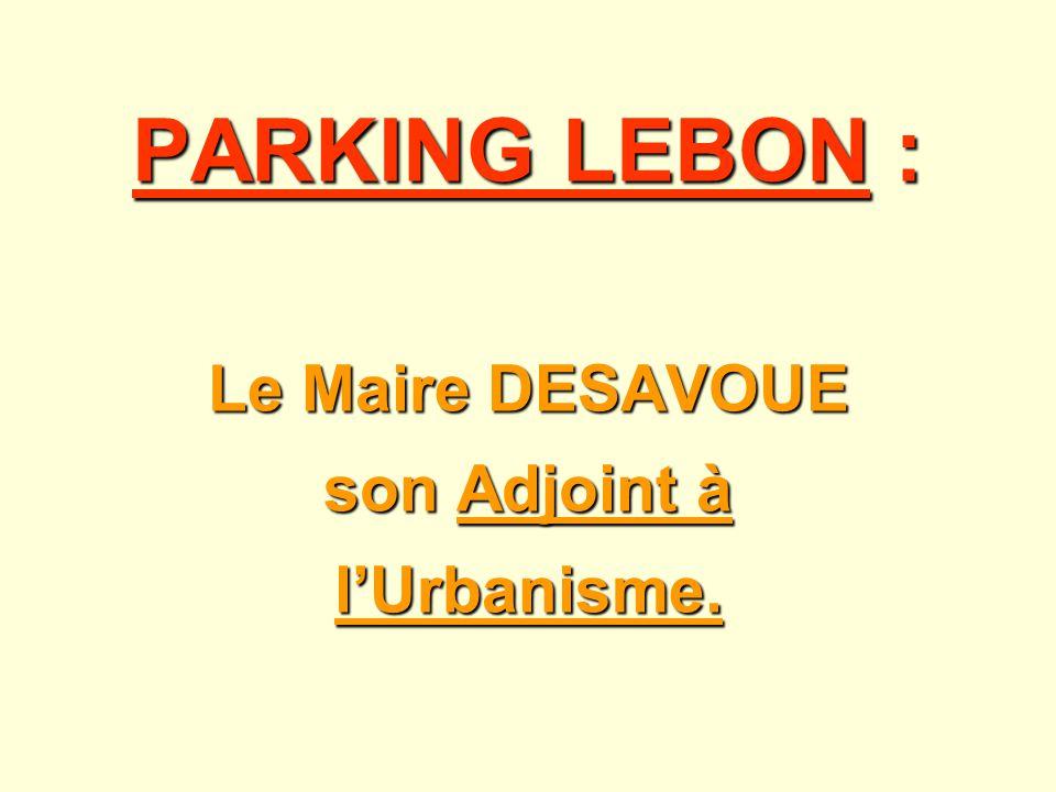 Le Maire DESAVOUE son Adjoint à l'Urbanisme.