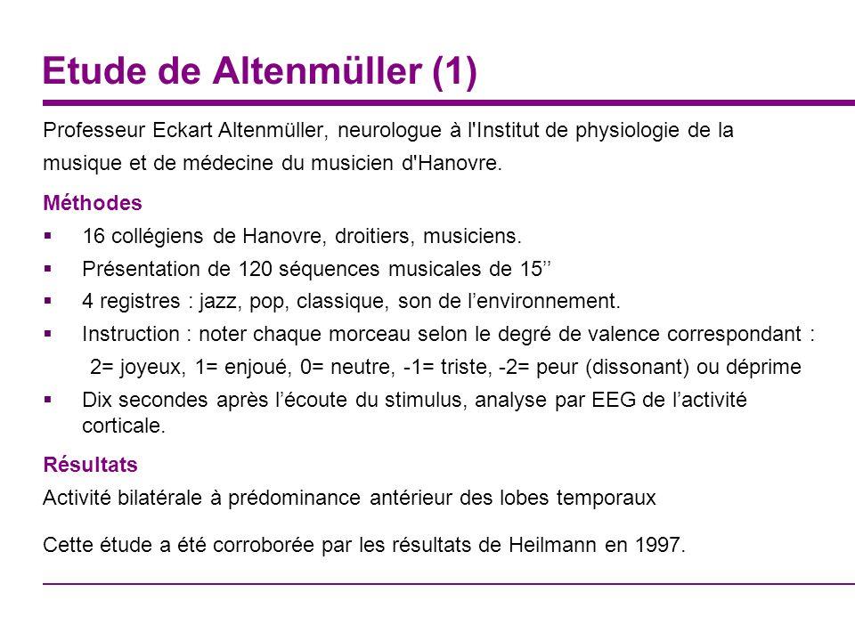 Etude de Altenmüller (1)