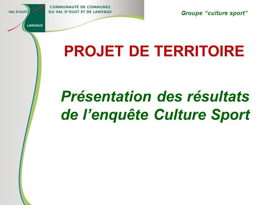 Présentation des résultats de l'enquête Culture Sport