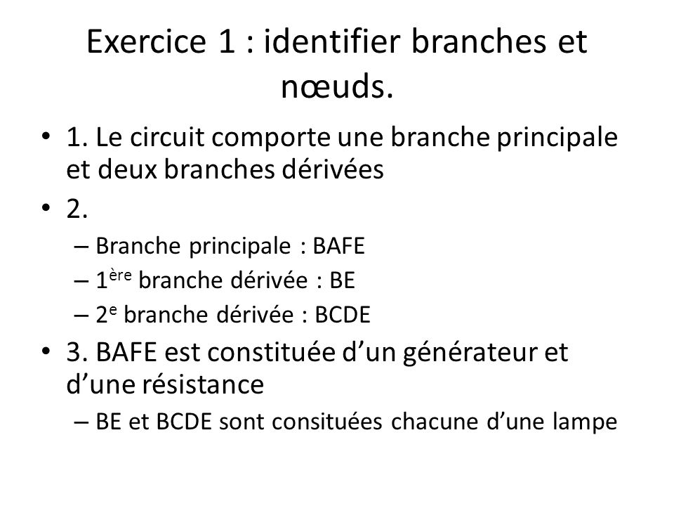 Exercice 1 : identifier branches et nœuds.