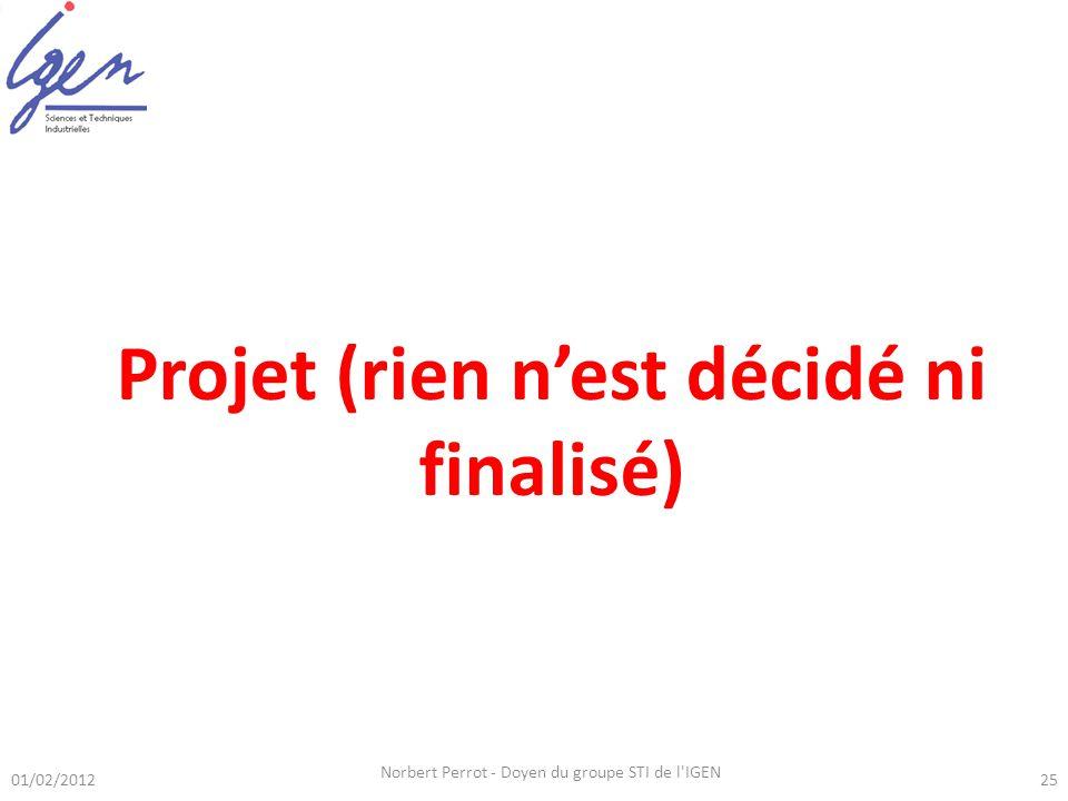 Projet (rien n'est décidé ni finalisé)