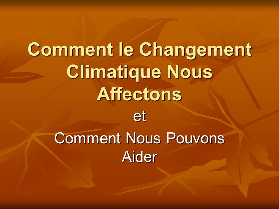 Comment le Changement Climatique Nous Affectons