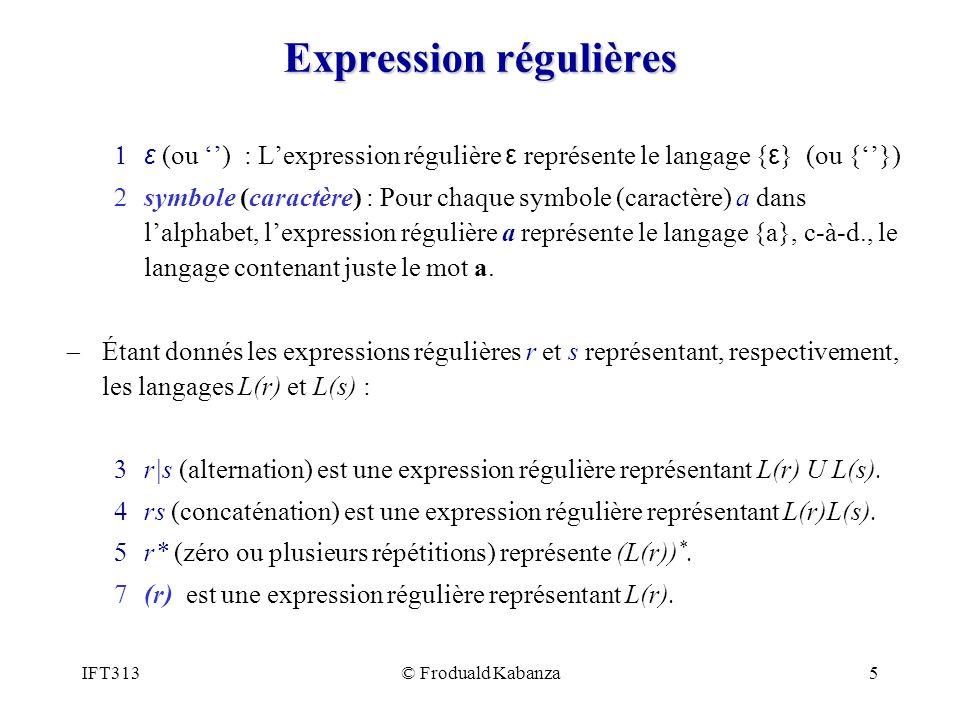 Expression régulières