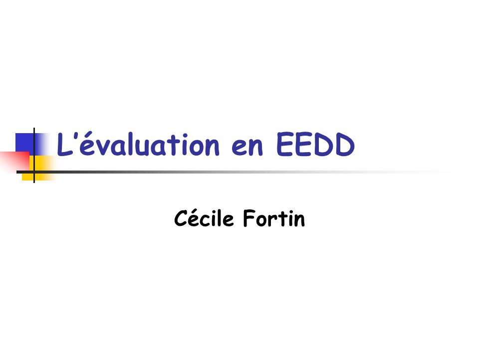 L'évaluation en EEDD Cécile Fortin