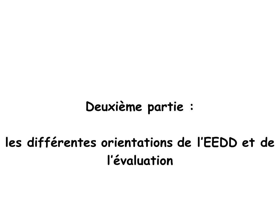 les différentes orientations de l'EEDD et de
