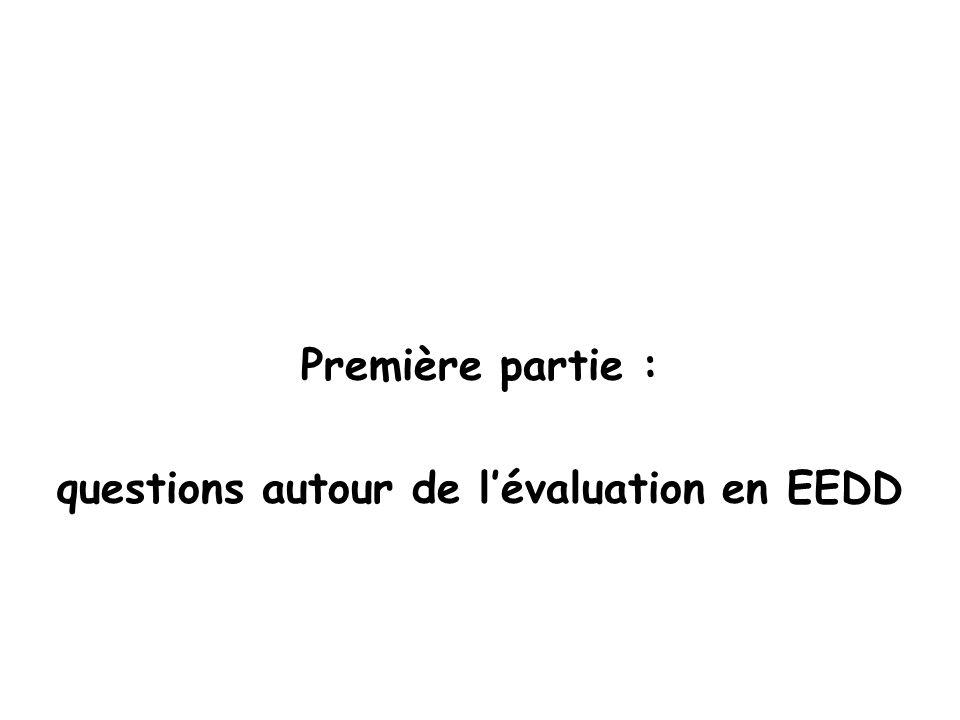 questions autour de l'évaluation en EEDD