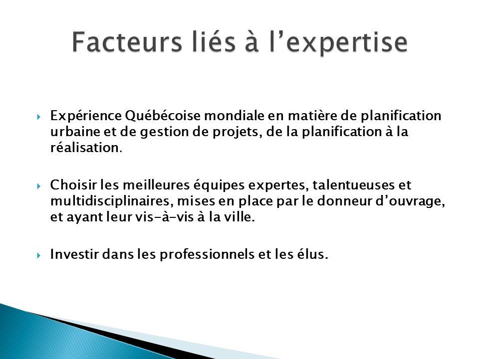 Facteurs liés à l'expertise