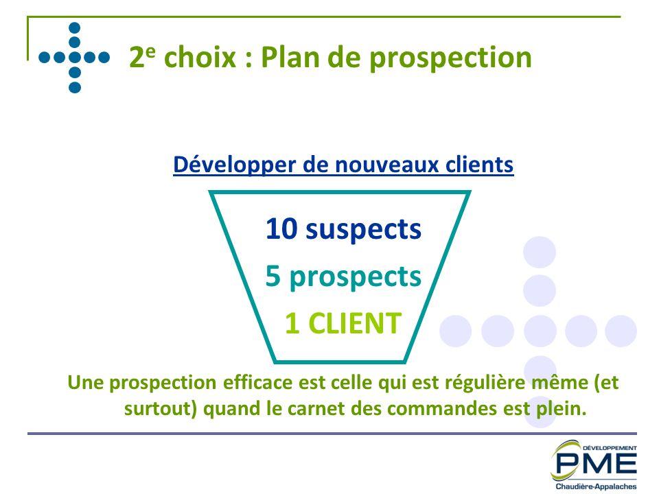 2e choix : Plan de prospection