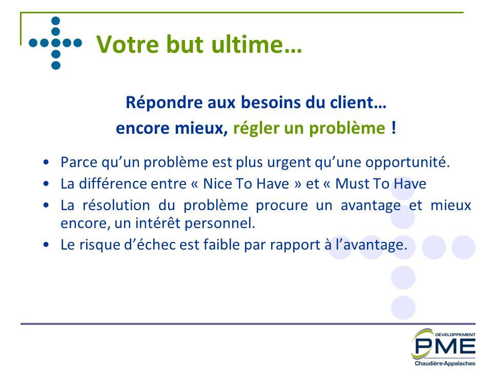 Répondre aux besoins du client… encore mieux, régler un problème !