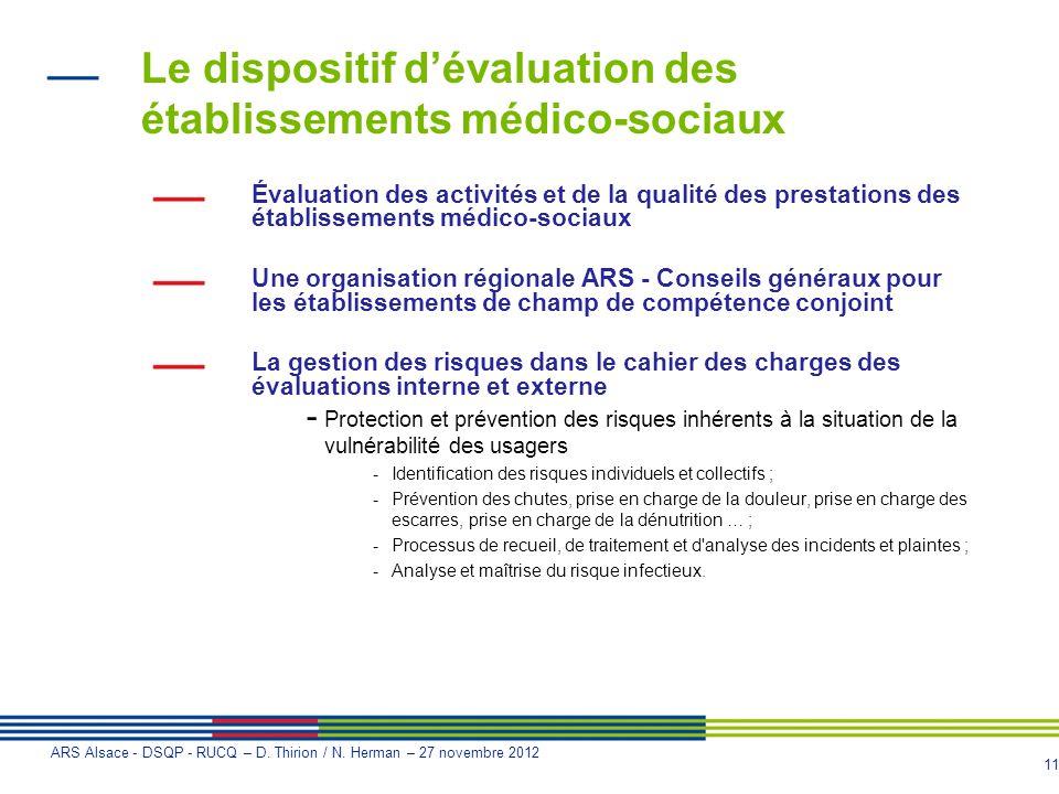 Le dispositif d'évaluation des établissements médico-sociaux