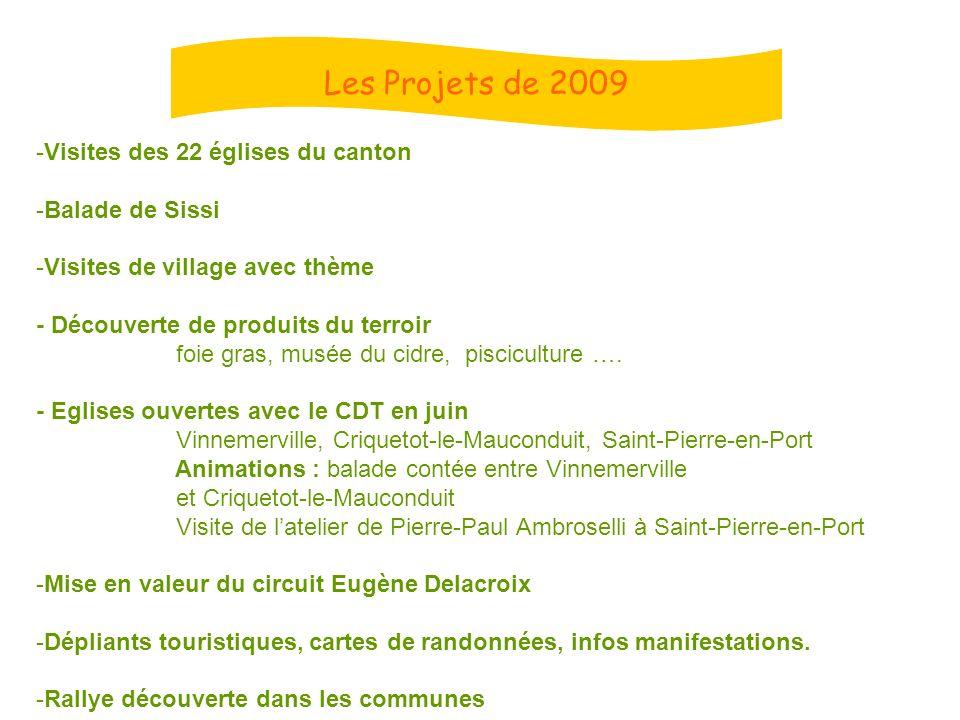 Les Projets de 2009 Visites des 22 églises du canton Balade de Sissi
