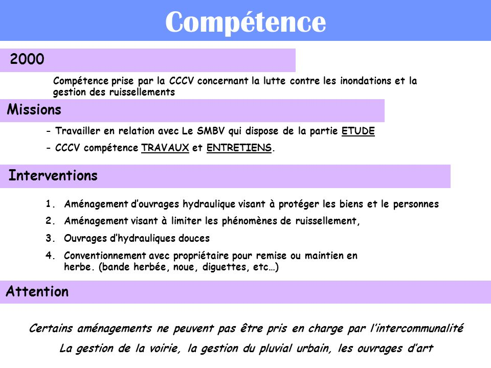 Compétence 2000 Missions Interventions Attention