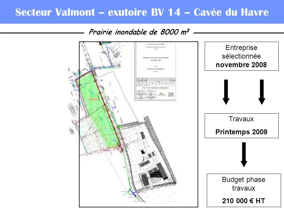 Secteur Valmont – exutoire BV 14 – Cavée du Havre