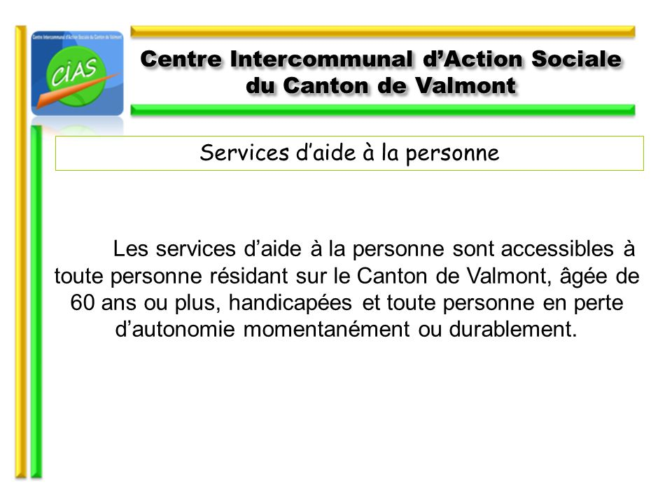 Centre Intercommunal d'Action Sociale du Canton de Valmont