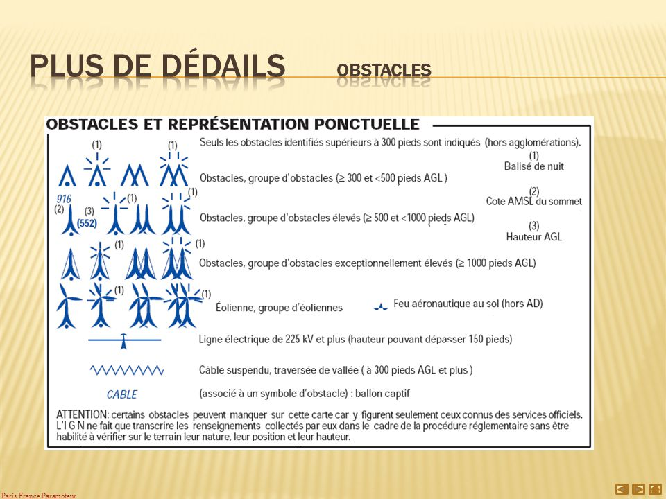 Plus de Dédails obstacles