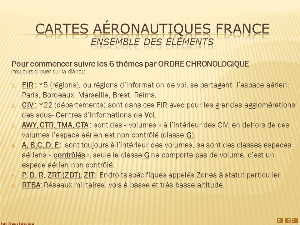 Cartes aéronautiques France Ensemble des éléments
