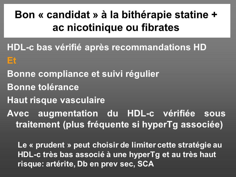Bon « candidat » à la bithérapie statine + ac nicotinique ou fibrates