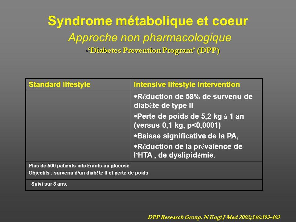 Syndrome métabolique et coeur Approche non pharmacologique