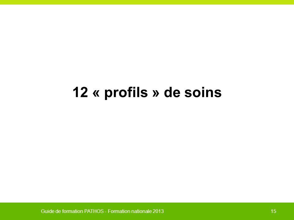 12 « profils » de soins