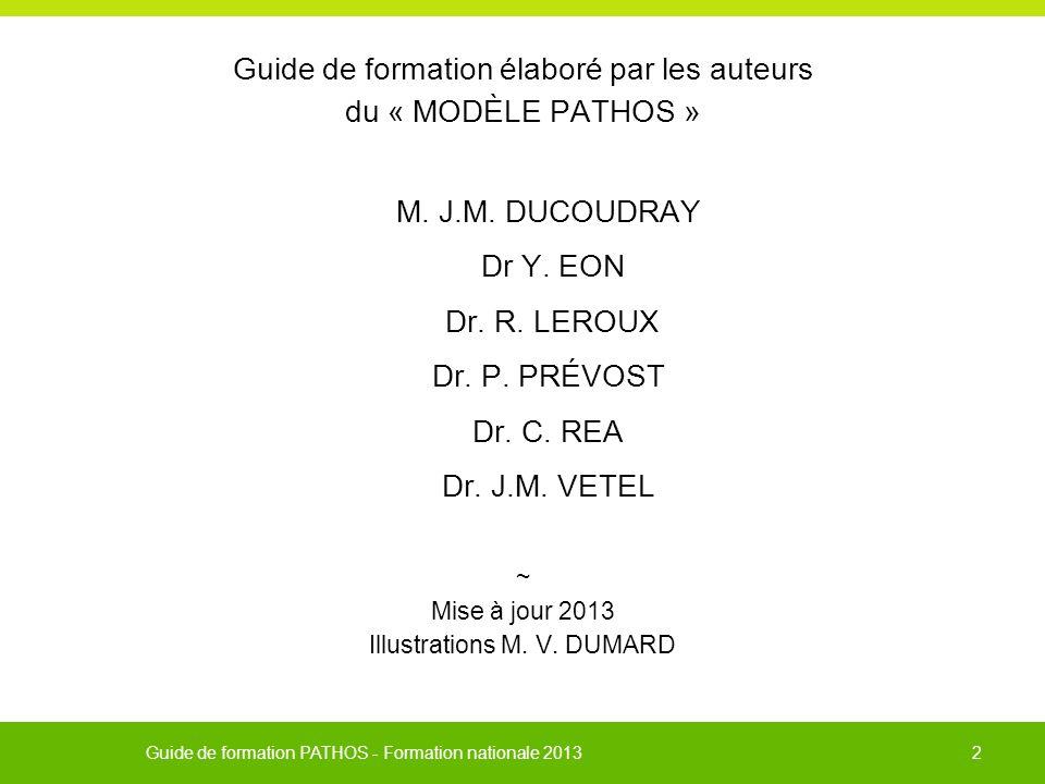 Guide de formation élaboré par les auteurs du « MODÈLE PATHOS »