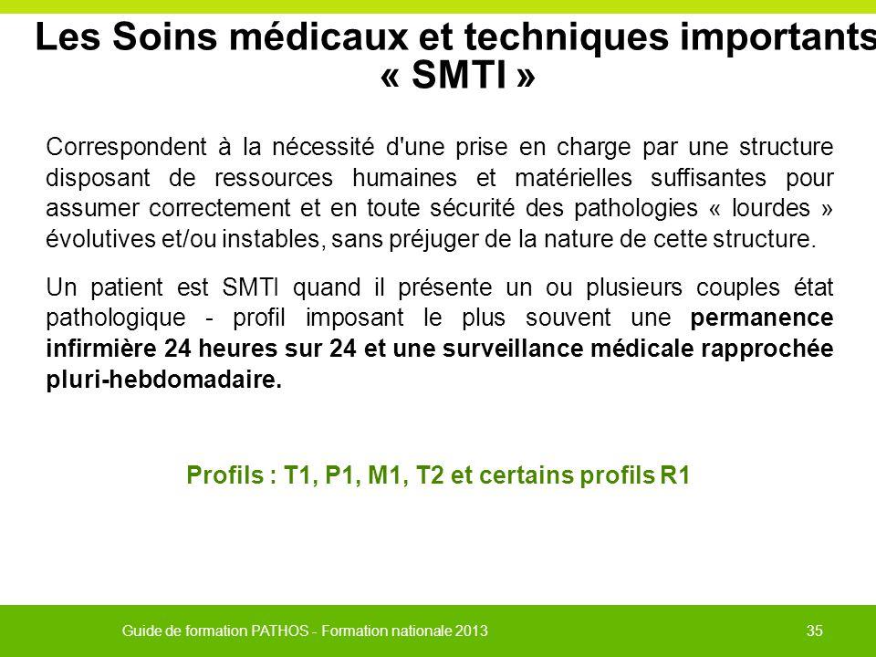 Les Soins médicaux et techniques importants « SMTI »