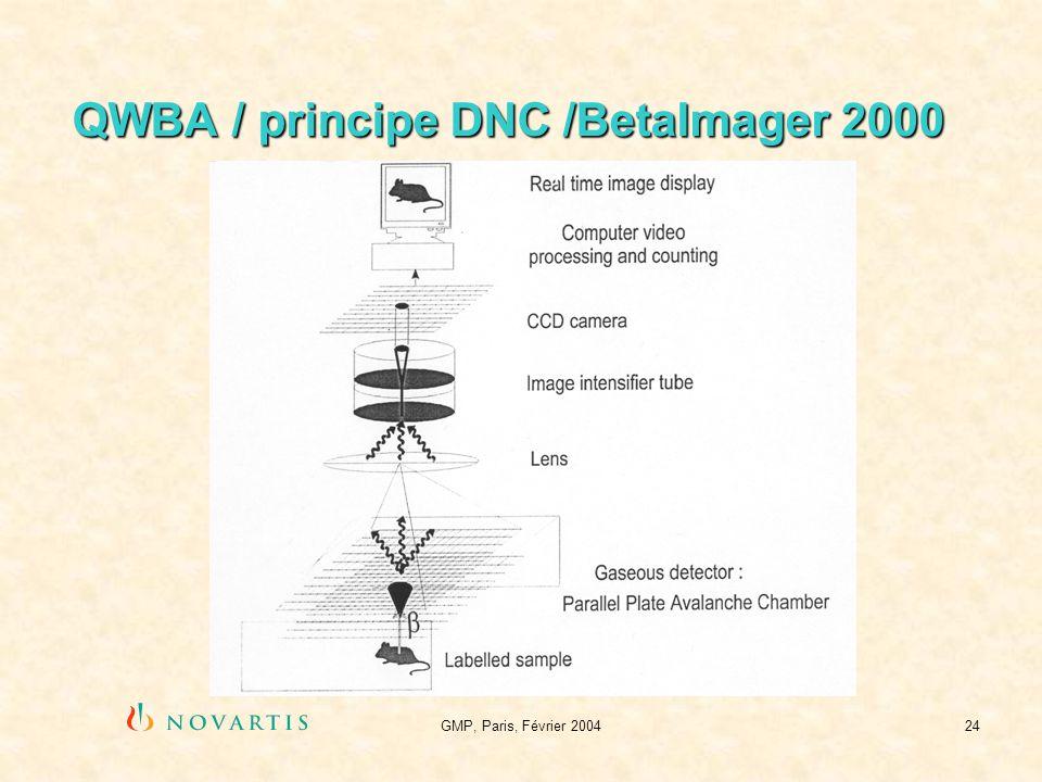 QWBA / principe DNC /BetaImager 2000