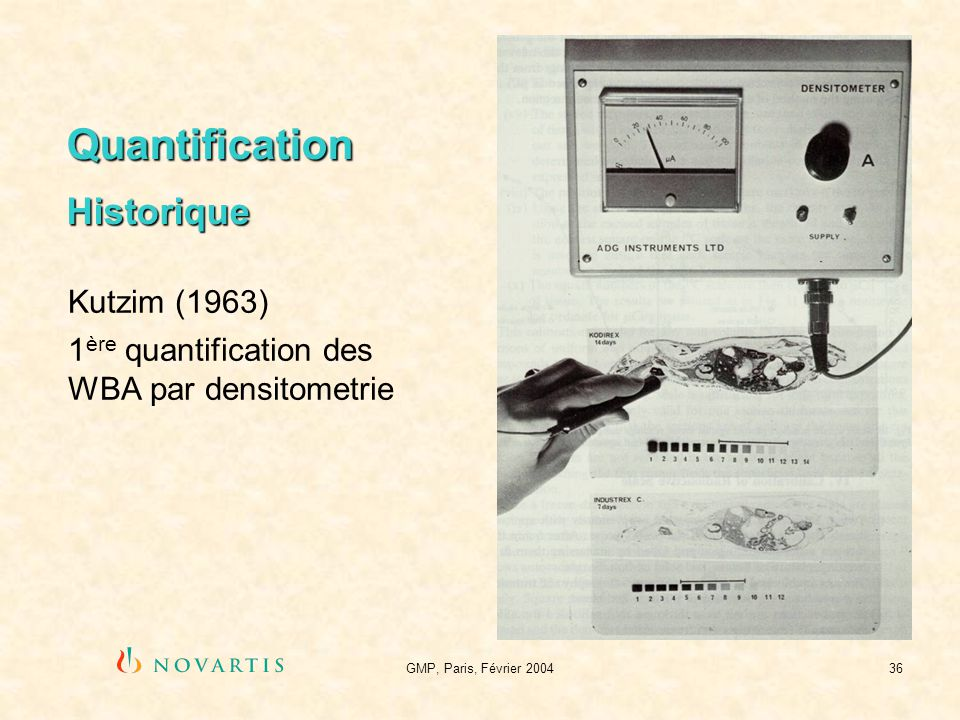 Quantification Historique